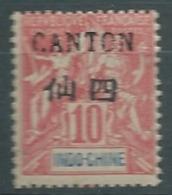 Canton -  Yvert N° 21 * Tres Légère       -  Abc24823 - Unused Stamps
