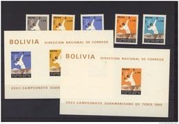 Bolivie  : Mi  781-85  + Bl  22-23  **   Tennis - Bolivia