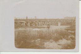 """AK """"Eisenbahn-Behelfsbrücke"""" - Weltkrieg 1914-18"""