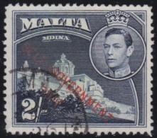 Malta            .   SG   .       245       .        O   .   Cancelled   .   /   .   Gebruikt - Malta