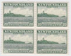 Newfoundland        .   SG   .     218   Bloc Of 4         .      **      . Postfris     .   /   .  MNH - Newfoundland