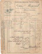 Facture Ancienne/Manufacture De Bonneterie Marchant Au Moteur/Louis MENVIEL/MONTPELLIER/Rue Belmont/1905      FACT254 - Textile & Vestimentaire