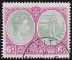 St Kitts & Nevis    .      SG     .   74      .        O   .   Cancelled   .   /   .   Gebruikt - Groot-Brittannië (oude Kolonies En Protectoraten)