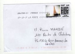 Enveloppe Vignette D' Affranchissement Oblitération LA POSTE 26479A-01 07/12/2017 - 2010-... Illustrated Franking Labels