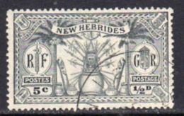 New Hebrides 1925 Dual Currency ½d/5c Value, Wmk. Mult. Script CA, Used, SG 43 - English Legend