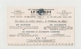 BUVARD LE MONDE Compagnies D' Assurances - Bank & Insurance