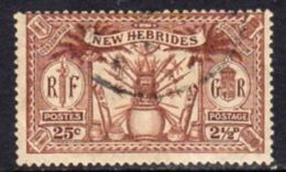 New Hebrides 1925 Dual Currency 2½d/25c Value, Wmk. Mult. Script CA, Used, SG 46 - English Legend