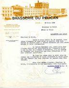 """""""La Brasserie Du Pélican"""", Brasserie-malterie,Lille, Boulevard De Lorraine N°51, 1938 - Otros"""