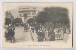 PARIS - 1902 - Colorisée - Avenue Du Bois De Boulogne ( Avenue Foch )  - Animée - Paris (16)