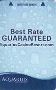 USA Aquarius Casino Resort, Magnetic Insert Keycard - Cartes De Casino