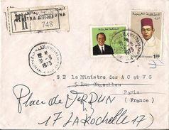 MAROC LETTRE RECOMMANDEE KENITRA DE 1973 - Marokko (1956-...)