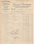 Facture Ancienne/Tissus En Gros /Manufacture De Confections/Fernand BERONNEAU/ BORDEAUX//1920      FACT256 - Textile & Vestimentaire
