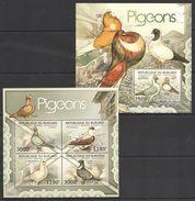 BURUNDI 2012 - Faune, Oiseaux, Pigeons - 4 Val + BF Neufs // Mnh // CV 36.00 Euros - Burundi