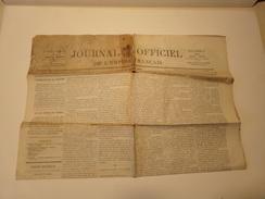 Journal Officiel De L'empire Français N° 30 Du Lundi 31 Janvier 1870 ( 35 Gr ) - Zeitungen