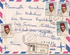 MAROC LETTRE RECOMMANDEE CASABLANCA TAKADOUM DE 1970 - Marokko (1956-...)
