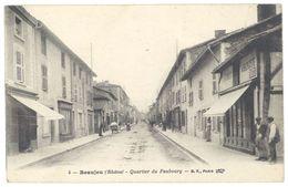 Cpa Beaujeu - Quartier Du Faubourg - Beaujeu