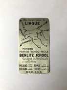 Calendarietto Barbiere Berlitz School Alluminio Paccagnini Milano 1934 - Non Classificati