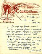 Voitures De Grande Remise Et Breaks Our Excursions, Maison COURTOT Frères, LILLE, Rue D'Angleterre N° 63, 1912 - Cars