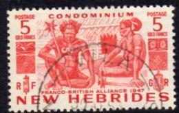 New Hebrides 1953 5f. Definitive, Used, SG 78 - English Legend