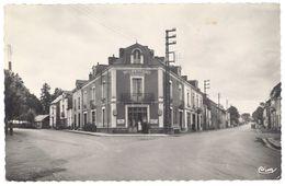 Cpsm Nozay - Route De Nort Et De Nantes ( Café Rabouin ) - France