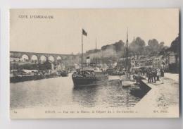 DINAN - Vue Sur La Rance - Départ Du Bateau Du-Guesclin - Animée - Dinan