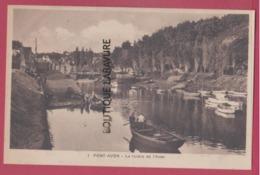 29 - PONT AVEN---La Rivière De L'Aven--barques--animé---cpsm Pf - Pont Aven