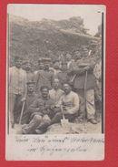 Secteur De Roye -- Carte Photo -  Soldats Allemands 21 Inf Div - Dans Une Tranchée 5/8/1915 - Roye