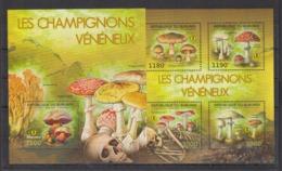 BURUNDI 2012 - Flore, Champignons Vénéneux - 4 Val + BF Neufs // Mnh // CV 36.00 Euros - Burundi