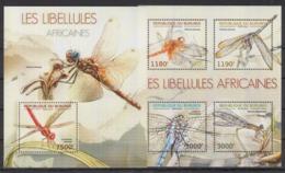 BURUNDI 2012 - Faune, Insectes, Libellules Africaines - 4 Val + BF Neufs // Mnh // CV 36.00 Euros - Burundi