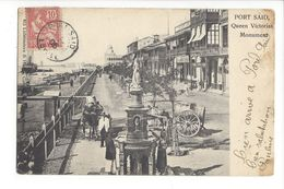 18881 -  Port Saïd Queen Victorias Monument Attelages - Port-Saïd