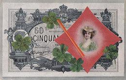 Représentation Billets 50 Francs Belge Avec Fille. - Monnaies (représentations)