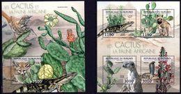 BURUNDI 2012 - Faune Et Flore, Cactus Et Animaux Africains - 4 Val + BF Neufs // Mnh // CV 36.00 Euros - Burundi