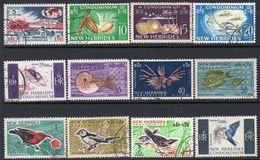 New Hebrides 1963-72 Definitives Complete Set Of 12, Used, SG 98/109 - English Legend