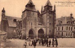 B41159 Saint Brieuc, Cathédrale Et Hôtel De Ville - France