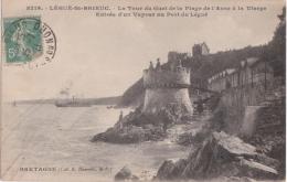 Bl - Cpa LEGUE SAINT BRIEUC - La Tour Du Guet De La Plage De L'Anse à La Vierge - Entrée D'un Vapeur Au Port Du Légué - Saint-Brieuc