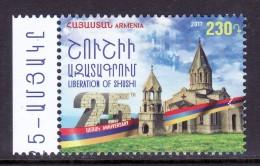 Armenien/Armenie/Armenia 2017, 25th Anniversary Of Liberation Of Shushi, Karabakh - MNH - Chiese E Cattedrali