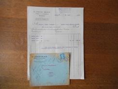 ROUBAIX  G. LESAGE-BLACK ROBES & DRAPERIES 37 RUE DE L'HOSPICE FACTURE ET ENVELOPPE DES 26/8 ET 17/10/1921 - France