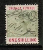GRENADA  Scott # UNLISTED 1 SHILLING REVENUE STAMP USED DATED 1890 - Grenada (...-1974)