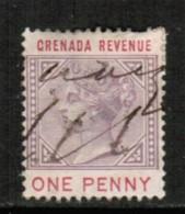 GRENADA  Scott # UNLISTED 1 PENNY REVENUE STAMP USED - Grenada (...-1974)