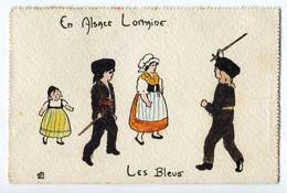 CPA  Illustrateur DELALAIN En Alsace Lorraine - Les Bleus 1917 - Guerre 1914-18