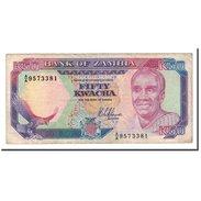 Billet, Zambie, 50 Kwacha, Undated (1989-91), KM:33a, TB - Zambie