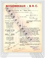 75 3831 PARIS 1949 Acetylene Soudure MAGONDEAUX - B.R.C 30 Bd Pershing Usine ˆ MAULE 78 Yvelines Et  DECINES Dest - France