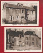 44 - HERBIGNAC - LOT DE 2 CARTES - PLACE DE LA CHAPELLE - GENDARMERIE - Herbignac