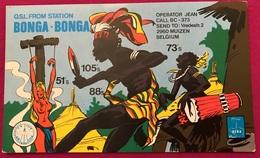 CB Funk Karte Belgium. 2960 Muizen , Station Bonga Bonga - CB