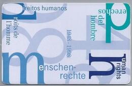 DE.- Telefoonkaart. Telecom TELEFONKARTE. 12 DM. - 50 Jahre Menschenrechte. - P & PD-Reeksen : Loket Van D. Telekom