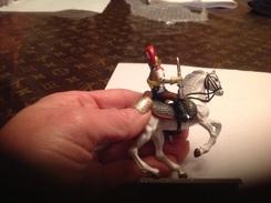 Figurines/militaires/figurine-soldat Et Chevalier Sur Cheval - Army