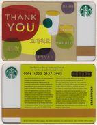 Starbucks - Switzerland - 2012 - CN 0096 4000 0127 - Thank You - Gift Cards