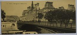 Paris - Pont D'Arcole - Hôtel De Ville - Publicité Chocolat Vinay Au Dos - Format Mignonnette - (n°9564) - Other Monuments