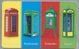 DE.- Telefoonkaart. Telecom TELEFONKARTE. 12 DM. - Telefooncel Grossbritanien. Niederlande. Sweden. Ungarn. - Duitsland
