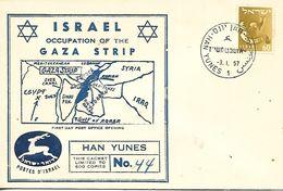 ISRAEL  HAN YUNES  Israel Occupation Of The Gaza Trip  3/01/57 - Israel